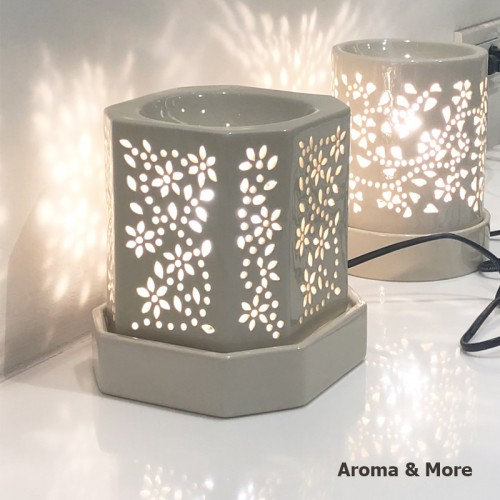 Electric Aroma Burner-Cream...
