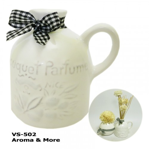 White Ceramic Vase -For...
