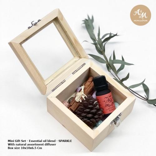 ชุดของขวัญกล่องไม้กระจก +...