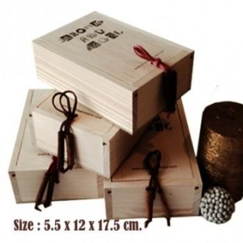 กล่องไม้สนฝาเลื่อนที่ออกแบบ...